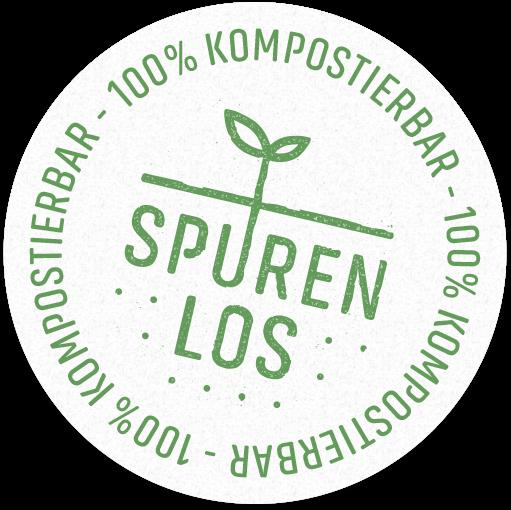 Spurenlos – 100% kompostierbar